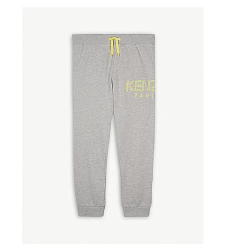 KENZO Logo cotton-blend jogging bottoms 4-16 years (Marled+grey