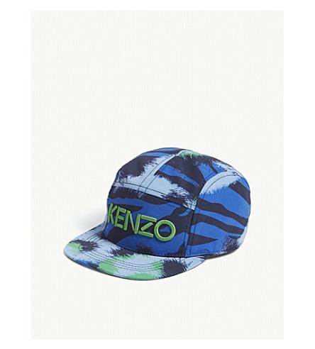 KENZO Tiger print snapback cap 5-16 years (Navy