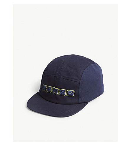KENZO Logo cotton snapback cap (Navy