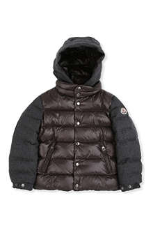 MONCLER Riom flannel sleeve quilted jacket 8-14 years