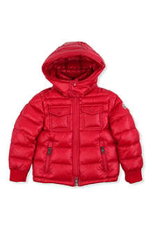 MONCLER Cable knit collar quilted jacket 2-6 years