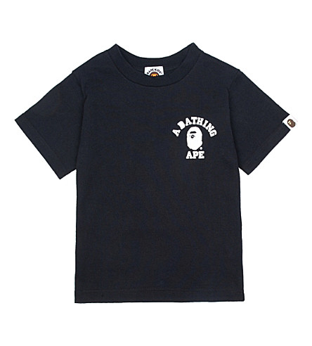 A BATHING APE Logo cotton-jersey T-shirt (Black