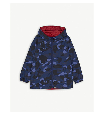 A BATHING APE Reversible hooded jacket 4-8 years (Nvy