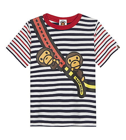 A BATHING APE Baby Milo cotton T-shirt 4-8 years (Navy