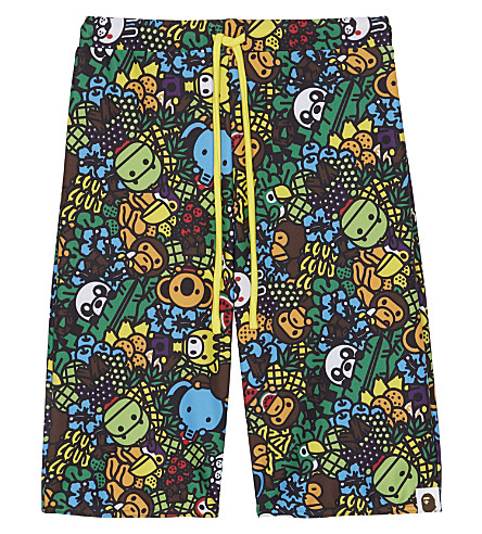 A BATHING APE Baby Milo Island swim shorts 4-8 years (Multi