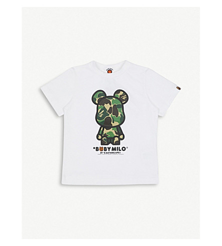 A BATHING APE Be@rbrick Baby Milo printed cotton-jersey T-shirt 4-8 years (Camo