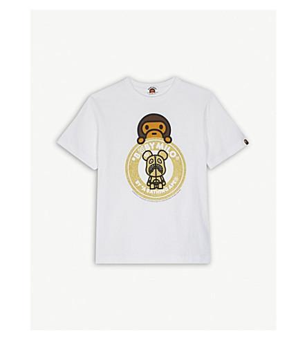 A BATHING APE Be@rbrick cotton T-shirt 4-8 years (Wht