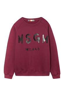 MSGM Classic logo sweatshirt 4-14 years