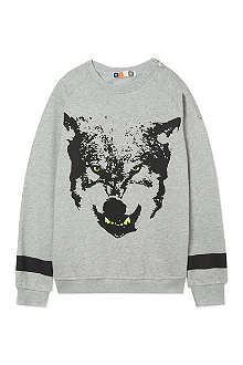 MSGM Neon wolf sweater 4-14 years