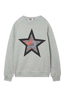 MSGM Floral star sweatshirt 4-14 years