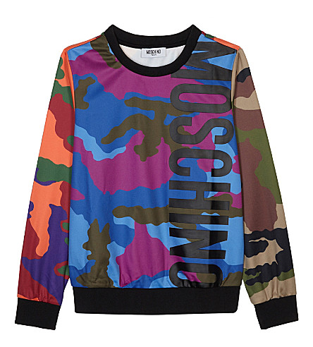 MOSCHINO Multicoloured camo print sweatshirt 4-14 years (Multi