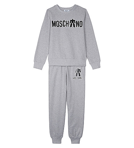 MOSCHINO Transformers logo tracksuit 4-14 years (Grey