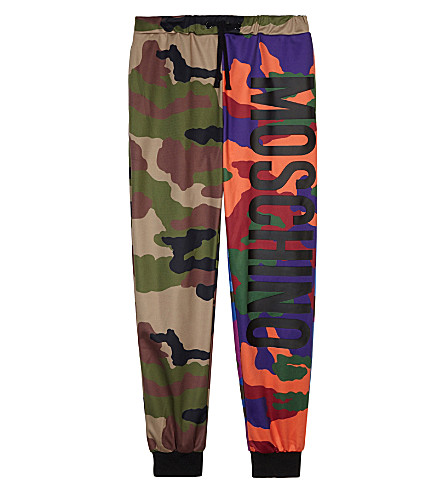 MOSCHINO Multicoloured camo print tracksuit bottoms 4-14 years (Multi