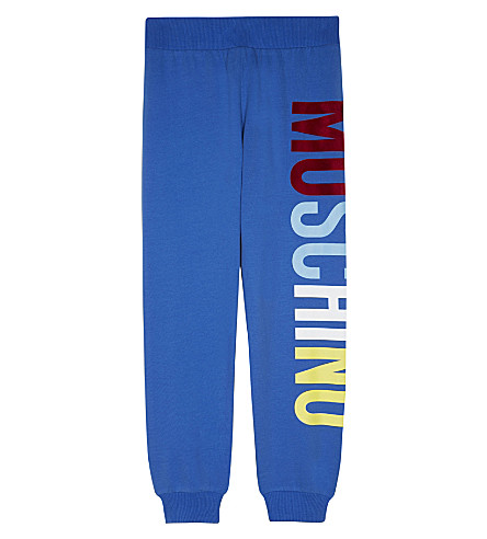 MOSCHINO Logo print tracksuit bottoms 4-14 years (Blue