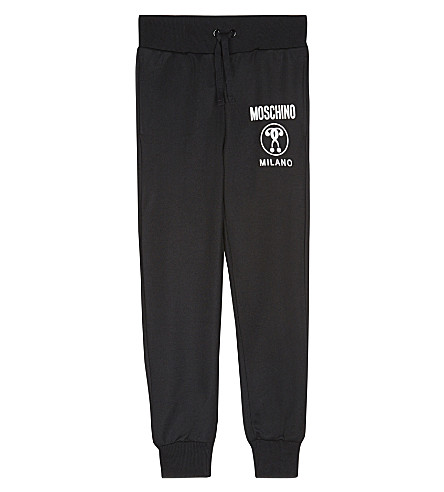 MOSCHINO Logo print jogging bottoms 4-14 years (Black