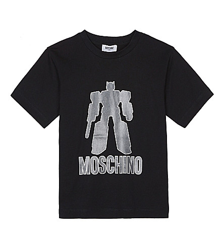 MOSCHINO Transformers short-sleeved cotton top 4-14 years (Black