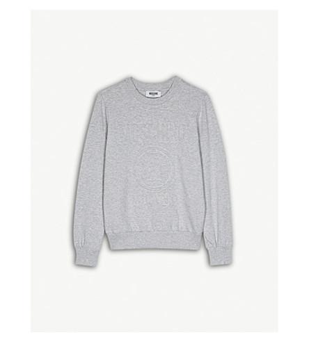 MOSCHINO Logo cotton-blend sweatshirt 4-14 years (Grey