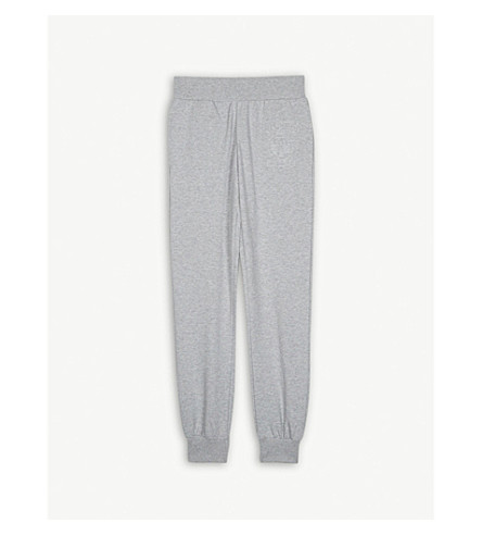 MOSCHINO Embossed logo stretch-cotton jogging bottoms 4-14 years (Grey