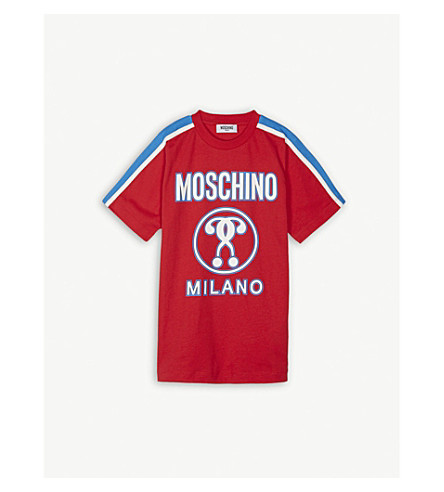 MOSCHINO Milano logo cotton T-shirt 4-14 years (Poppy+red