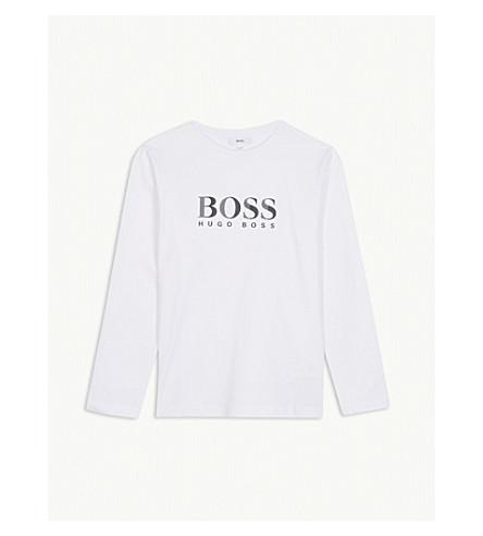 BOSS Logo cotton T-shirt 4-16 years (White