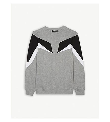 NEIL BARRETT Colour block cotton sweatshirt 4-14 years (Grey