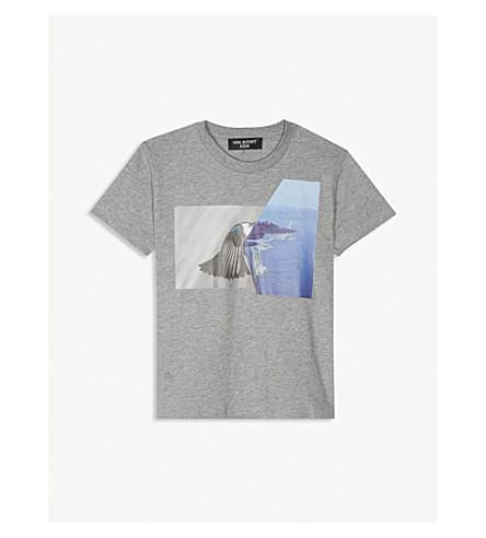 NEIL BARRETT Graphic print cotton T-shirt 4-14 years (Grey