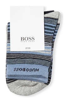 HUGO BOSS Set of 2 stretch-cotton socks 5-11 years