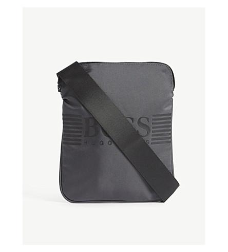 BOSS 徽标打印信使包 (灰色