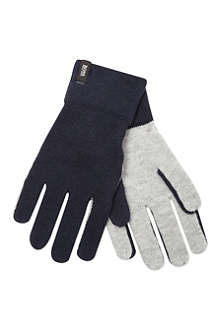 HUGO BOSS Logo wool gloves