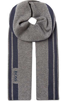 HUGO BOSS Logo stripe scarf