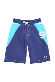 HUGO BOSS Number knee-length swim shorts 4-16 years