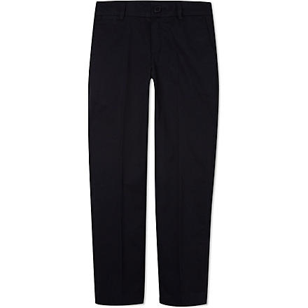 BOSS Slim fit suit trousers 8-16 years (Navy