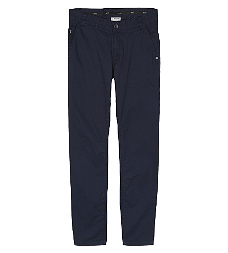 BOSS 5 pocket twill trousers 4-16 years (Navy