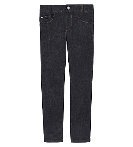 BOSS Darkwash denim jeans 4-16 years (Denim+blue