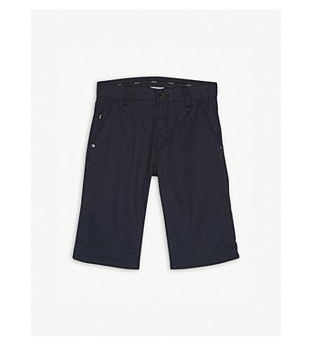 BOSS Cotton bermuda shorts 4-16 years (Navy