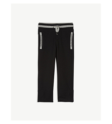 BOSS Logo cotton tracksuit bottoms 4-16 years (Black