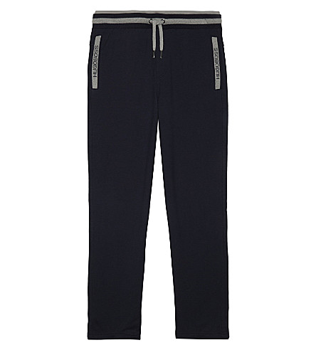 BOSS Logo cotton tracksuit bottoms 4-16 years (Grey+marl