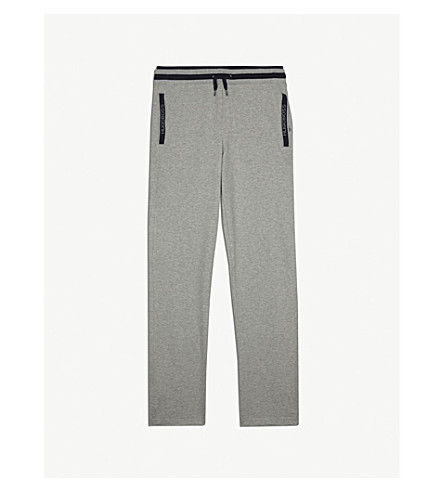 BOSS Logo cotton tracksuit bottoms 4-16 years (Grey