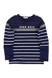 HUGO BOSS Striped long sleeve t-shirt 4-16 years