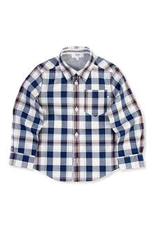 BOSS Large check shirt 4-16 years