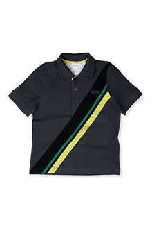 BOSS Stripe polo shirt 4-16 years