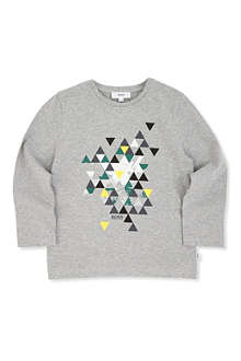 BOSS Abstract triangle print t-shirt 4-16 years