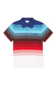 BOSS Striped polo t-shirt 4-16 years