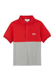 BOSS Colour block polo shirt 4-16 years