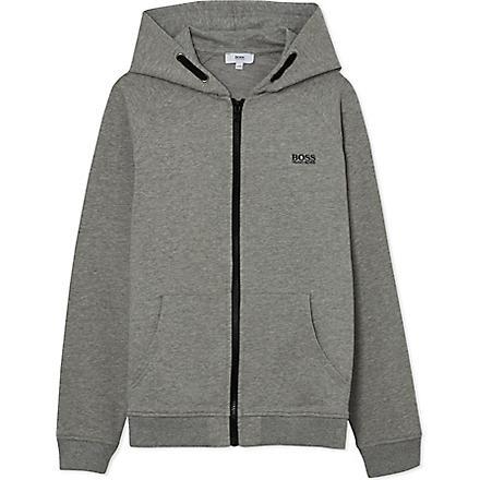 BOSS Contrast logo hoodie 4-16 years (Grey