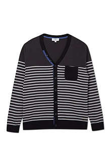 BOSS Striped cardigan 4-16 years