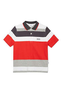 BOSS Block stripe polo shirt