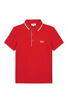 HUGO BOSS Embroidered polo shirt 4-16 years