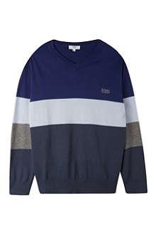 HUGO BOSS Stripe knit jumper 4-16 years