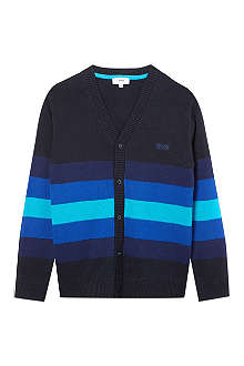 HUGO BOSS Striped knit cardigan 4-16 years
